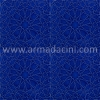 25x25 PR-380 Kobalt Rolyeflı Porselen Cını Karo