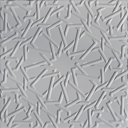 25x25 PR-385 Beyaz Rolyeflı Porselen Cını Karo, Kütahya porselen seramik iznik çini banyo mutfak tezgah otel türk hamamı dekorasyon örnekleri, fiyatları