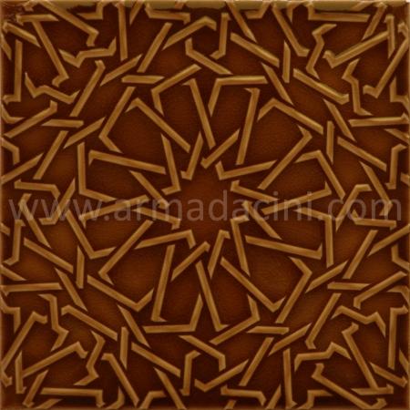 25x25 PR-390 Karamel Rolyeflı Porselen Cını Karo, Kütahya porselen seramik iznik çini banyo mutfak tezgah otel türk hamamı dekorasyon örnekleri, fiyatları