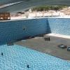 PSE-873 Mavi Baklava Ebrulu Fileli Mozaik Porselen Cini Kütahya porselen Kutahya seramik iznik çini sırlı mat banyo mutfak tezgah arası havuz otel türk hamamı kolon kaplama modelleri dekorasyon örnekleri, interior mosaic tiles porcelain tile mosque hotel ceramic decoration fiyatları