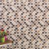 PSE-865 Kahve Balık Pulu Ebrulu Fileli Mozaik Cini Kütahya porselen Kutahya seramik iznik çini sırlı mat banyo mutfak tezgah arası havuz otel türk hamamı kolon kaplama modelleri dekorasyon örnekleri, interior mosaic tiles porcelain tile mosque hotel ceramic decoration fiyatları