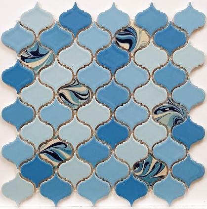 PSE-853 Mavi Arabesk Ebrulu Fileli Porselen Mozaik Kütahya porselen Kutahya seramik iznik çini sırlı mat banyo mutfak tezgah arası havuz otel türk hamamı kolon kaplama modelleri dekorasyon örnekleri, interior mosaic tiles porcelain tile mosque hotel ceramic decoration fiyatları