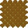 PC-819 Karamel Balık Pulu Porselen Fileli Mozaik Cini, Kütahya porselen Kutahya seramik iznik çini sırlı mat banyo mutfak tezgah arası havuz otel türk hamamı kolon kaplama modelleri dekorasyon örnekleri, interior mosaic tiles porcelain tile mosque hotel ceramic decoration fiyatları