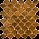 PC-819 Karamel Balık Pulu Fileli Mozaik