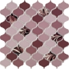 PSE-858 Gül Kurusu Arabesk Ebrulu Fileli Porselen Mozaik Kütahya porselen Kutahya seramik iznik çini sırlı mat banyo mutfak tezgah arası havuz otel türk hamamı kolon kaplama modelleri dekorasyon örnekleri, interior mosaic tiles porcelain tile mosque hotel ceramic decoration fiyatları