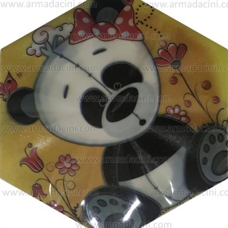 15x17 Dijital Baskılı Altıgen Çini Karo Panda