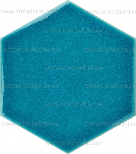 Plain Turquoise Hexagon Color Ceramic Tile Crack Glazed Turkish Bath Bathroom Design Interior Architecture Exterior Architecture Ceramic Porcelain Granite Tile Models Patterns Patterned Pattern