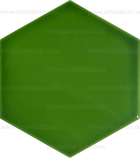 Plain Peanut Green Hexagonal Colored Ceramic Tile Color Colored Light Dark Hexagonal Shaped Plain Patternless Shape