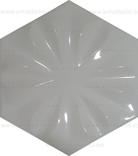 Relief Floral Hexagonal White Colored Tile Shiny Tile Ceramic Tile Thick Thin Floor ground ceramic ceramic tile