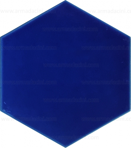 Plain Cobalt Hexagon Colored Ceramic Tile Designs Patterns Models Turkish Bath Bathroom Sink Floor Floor Wall Tile Models Matte Glossy Surface Glazed Unglazed Mix Mixed Tile Shapes