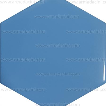 15x17 Havuz Mavisi Altıgen Renkli çini Karo