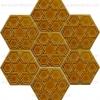15x17 Rölyefli Altıgen Karamel Çini Karo