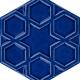 15x17 Rölyefli Altıgen Kobalt Çini Karo