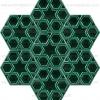 15x17 Rölyefli Altıgen Yeşil Çini Karo