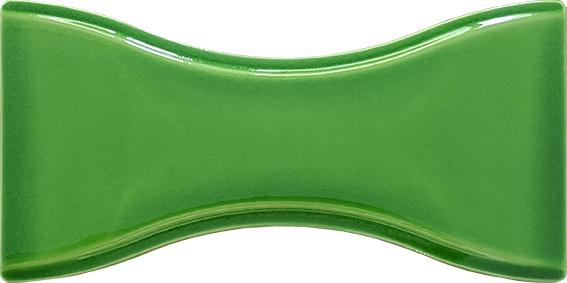 Fıstık Yeşili Renkli Papyon Kum Saati şeklinde şekilli çini karo seramik fayans modelleri modeli değişik tarzda seramikler çiniler modeller Türk hamamı banyo lavabo resrtaurant için bar altında kullanmak için