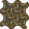 Parlak Altın Kaplama Kemik Şekilli Çini Karo Seramik Seramikler Modelli Modeli Çiniler Özel Üretim Özel Yapım