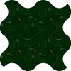13x20 Zümrüt Yeşil Kemik Seramik Çini Türk Hamamı Karo