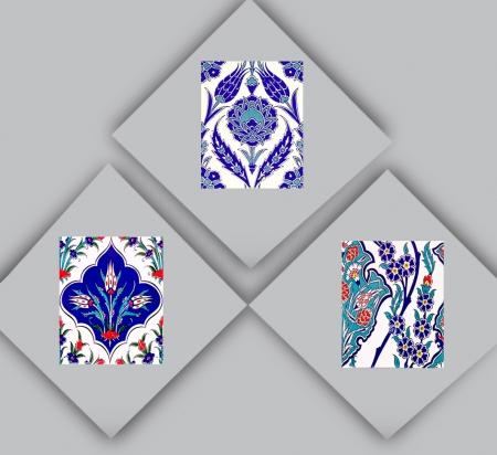 20x25 cm. Desenli Çini Karolar ve Seramikler