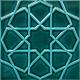 20x20 Zümrüt Yeşili Rölyefli Selçuk Yıldızı Çini