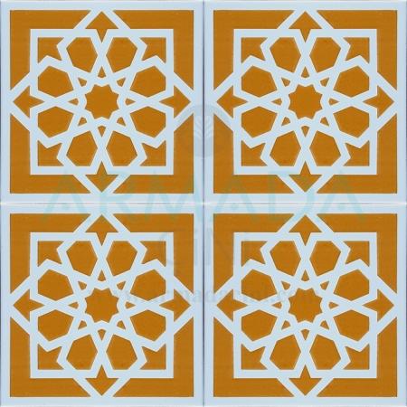 20x20 SP-101 Patterned Iznik Tile Tile Model (Seljuk Star) Original Original Real Seljuk Star Patterned Kütahya İznik Tile Ceramic Tile Models