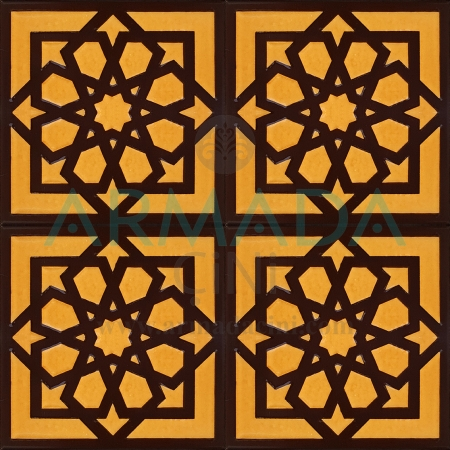 20x20 SP-101 Patterned Iznik Tile Tile Model (Seljuk Star) Original Original Real Seljuk Star Patterned Kütahya İznik Tile Ceramic Tile Models