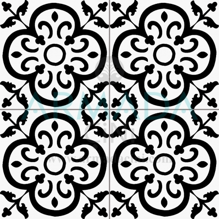 20x20 SP-21 Decorated Iznik Tile Tile Model (İstanbul) Modern Floor Floor Wall Chinese Ceramic Design Patterns Turkish Bath Bathroom Hotel Cafe Restaurant Çinisi