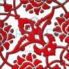 20x20 SP-83-A Desenli İznik Çini Karo Modeli (Rumi Desenli) Klasik Rumi Deseni Eski Osmanlı Selçuklu Rumi Desenleri ile yapılmış Kütahya Çini Karolar İznik