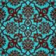 20x20 SP-83-C Desenli İznik Çini Karo Modeli (Rumi Desenli) Klasik Rumi Deseni Eski Osmanlı Selçuklu Rumi Desenleri ile yapılmış Kütahya Çini Karolar İznik