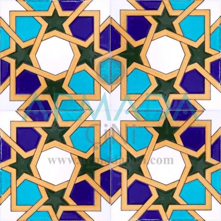 20x20 SP-99 Patterned Iznik Tile Tile Model (with Moroccan Pattern) Maroc Pattern Maroc Patterns Maroc Patterned Kütahya İznik Tile Ceramic Tile Models Morocco