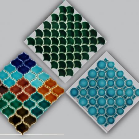 Fileli Mozaik Porselen Çiniler