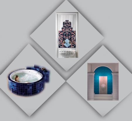 Türk Hamamı ve Otel Banyo Havuz Dekorasyon çinileri