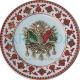 Osmanlı Devlet Armalı Altın Yaldızlı Porselen Tabak En iyi En güzel Altın Yaldızlı Porselen Seramik Çini Hediyelik Promosyon Tabak Modelleri Desenleri Tasarımları 2018 El Yapımı El Dekoru El İşlemesi 3d 3 üç boyutlu Osmanlı Devlet Arması