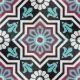 Desenli Yer Çinisi Yer Seramiği Yıldız Desenli Mürdüm Mangan Mor renkli Göbekli ve Çiçek desenli Yer Çinisi Zemin Seramiği Türkmen Yıldızı Motifli
