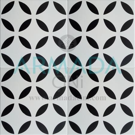 Desenli Yer Çinisi Yer Seramiği Kalın Küçük Yuvarlak Desenli Siyah Beyaz Renkli Renklerde Zemin Seramiği Modelleri Desenleri Cafe Kafe Dekorları Tasarımları