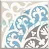 Desenli Yer Çinisi Seramiği Turkuaz Renkli Yaprak Karanfil Desenli Çini Seramik Desenleri Modelleri Tasarımları Yer dekorları