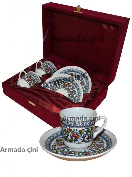 topkapı fincan takımı kahve fincanı kahve takımı çeyizlik hediyelik osmanlı desenli kütahya güral porselen