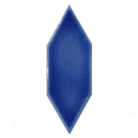 05X15 Cm Düz Yaprak Desen Kobalt Çini Seramik Karo