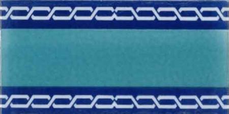 10x20 Cm KS 60 Zincir Desenli yeni Modern Çini Bordür