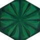 15x17 Cm AL 51 Yeşil Çiçekli Desen Altıgen Çini Karo