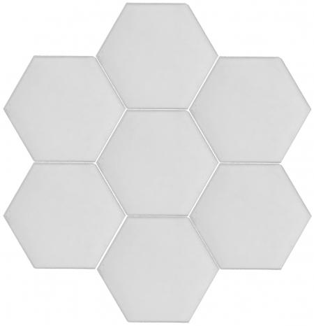 15x17 cm AL 60 Beyaz Düz Altıgen Çini Karo Seramik