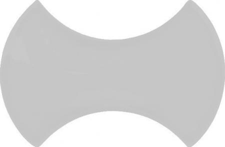 12x20 cm Kemik Beyaz Şekilli Çini Seramik Karo