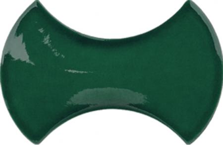 12x20 cm Kemik Yeşil Şekilli Çini Seramik Karo