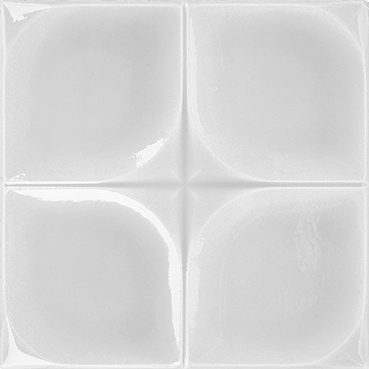 12,5x12,5 Cm Defakto Beyaz Model Çini Seramik Karo