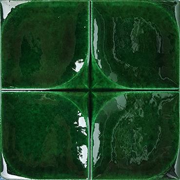 12,5x12,5 Cm Defakto Yeşil Model Çini Seramik Karo