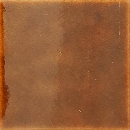 12,5x12,5 Cm Düz Karamel Çini Seramik Karo