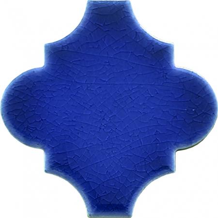 12x12 Ottoman Düz Arabesk Kobalt Çini Karo Seramik