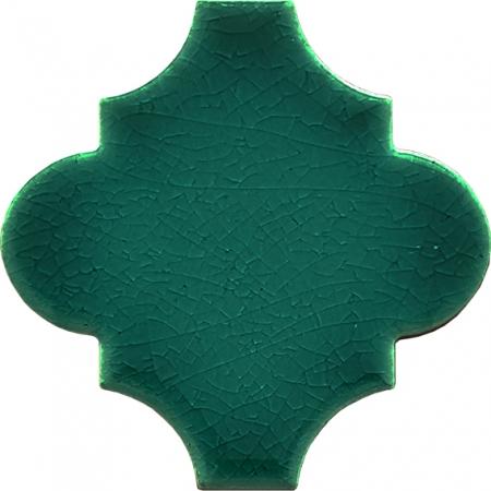 12x12 Ottoman Düz Arabesk Yeşil Çini Karo Seramik