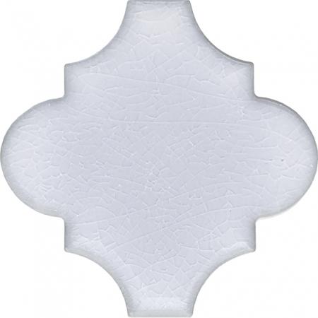 12x12 Ottoman Düz Arabesk Beyaz Çini Karo Seramik