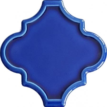 12x12 Ottoman Rölyefli Arabesk Kobalt Çini Karo Seramik