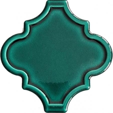 12x12 Ottoman Rölyefli Arabesk Yeşil Çini Karo Seramik